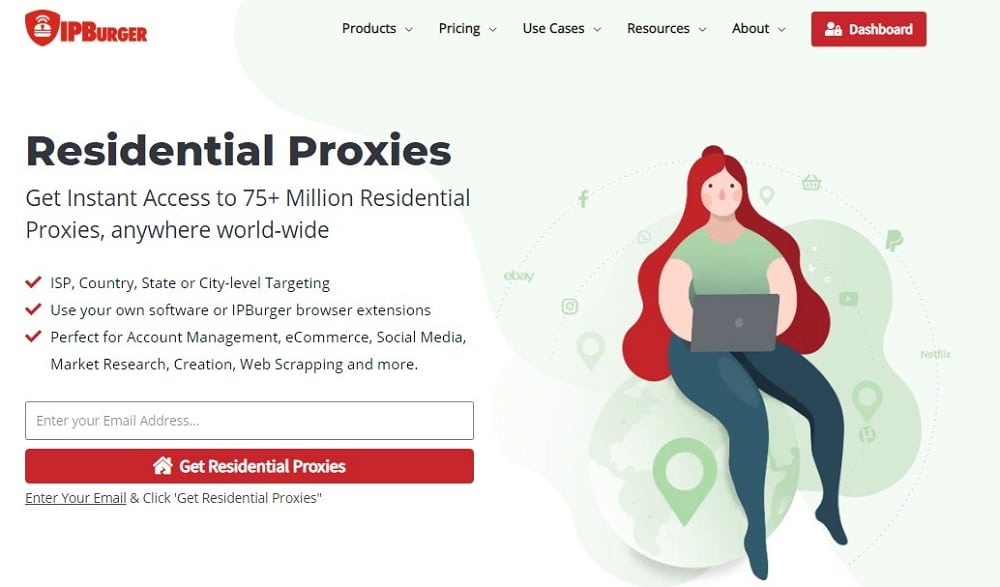 IPBurger Residencial Proxy Home Page