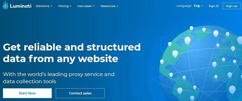 Luminati Home Page