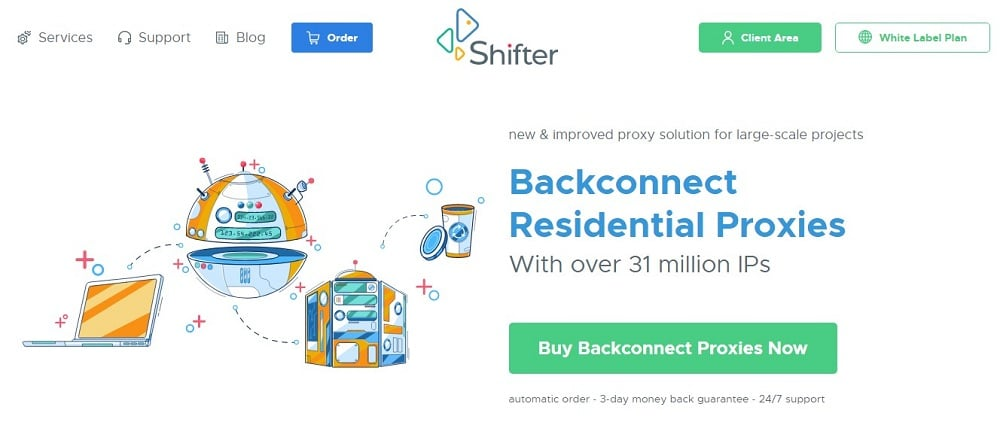Shifter Residential Proxy Home Page