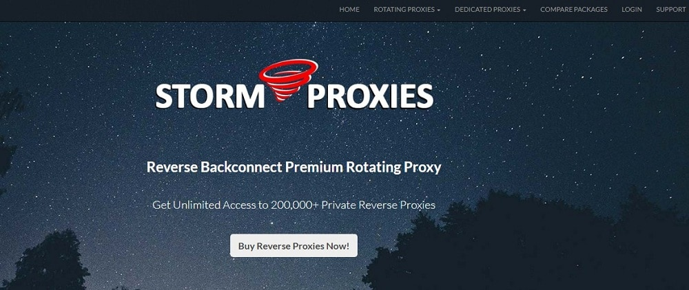 Storm Proxies Home Page