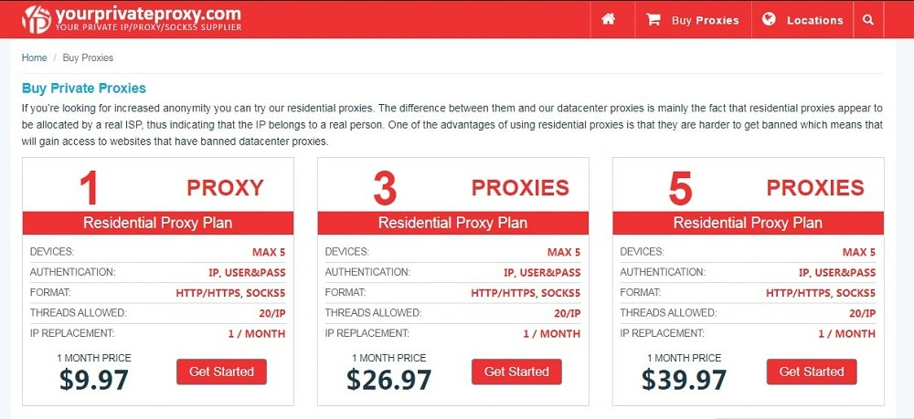 Your Private Proxy Home Page and Plan