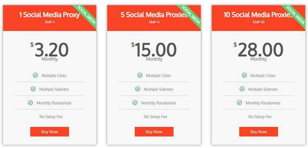 HighProxies Social Media Proxies Plan