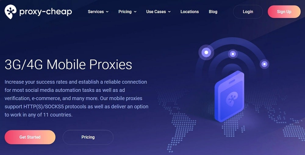 Proxy Cheap Home Page for Mobile Proxies