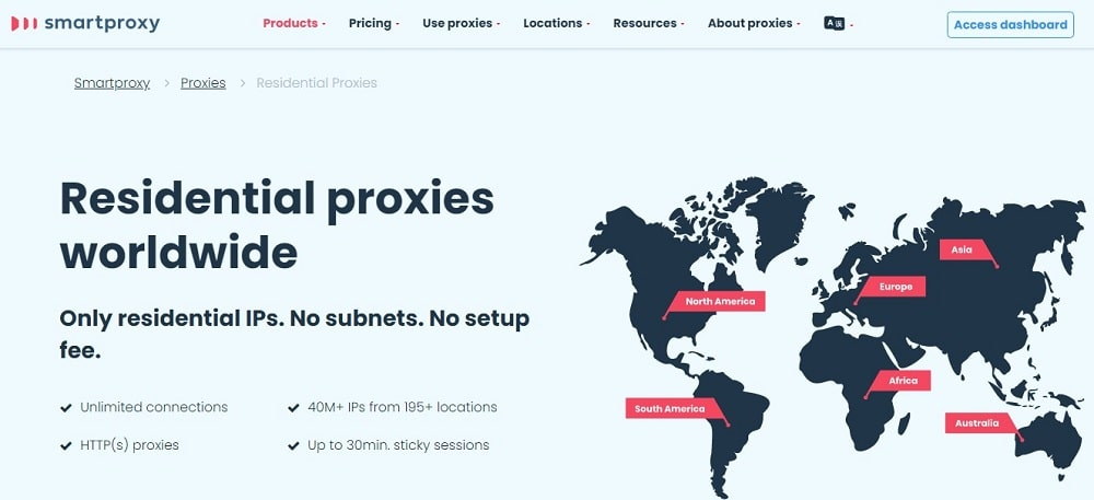 Smart Proxy for residential Home Page