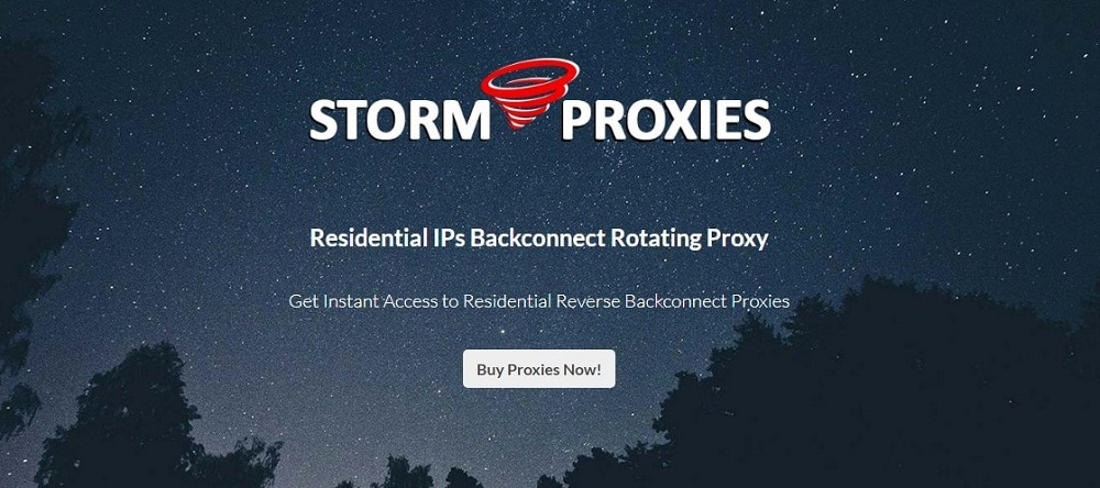 Stormproxies for residential Homepage