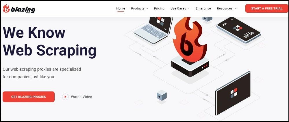 Blazing seo Homepage overview
