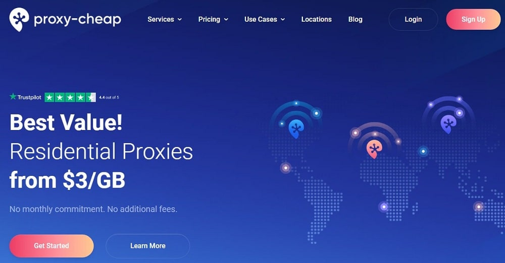 Proxy Cheap Homepage overview