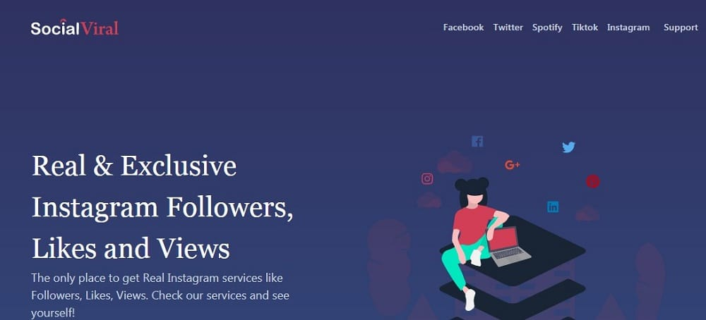 Social Viral Homepage overview