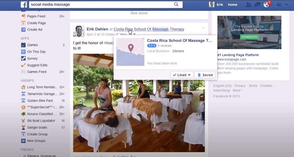 Facebook Location Tags and Hashtags