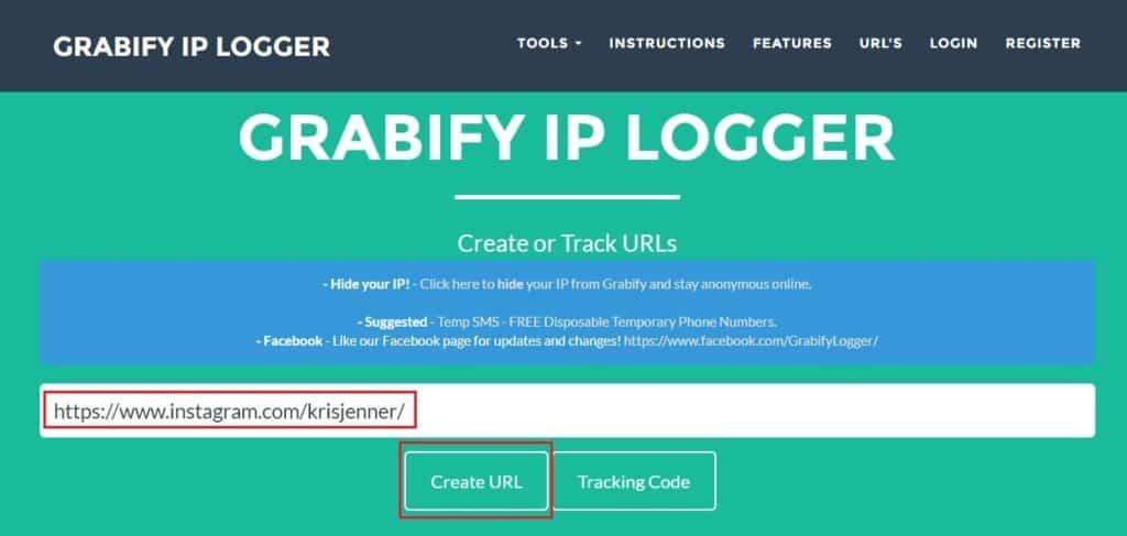 Grabify instagram Create URL