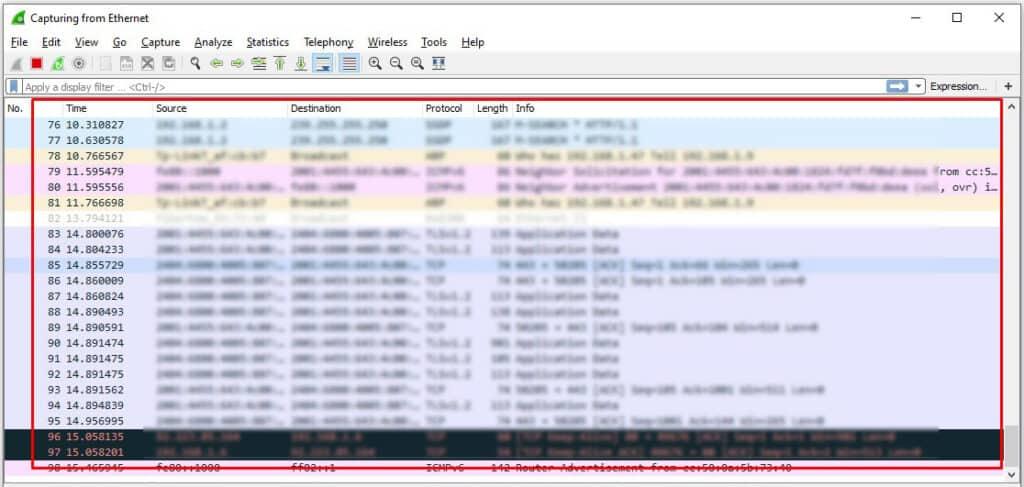 PS4 Wireshark ip trace