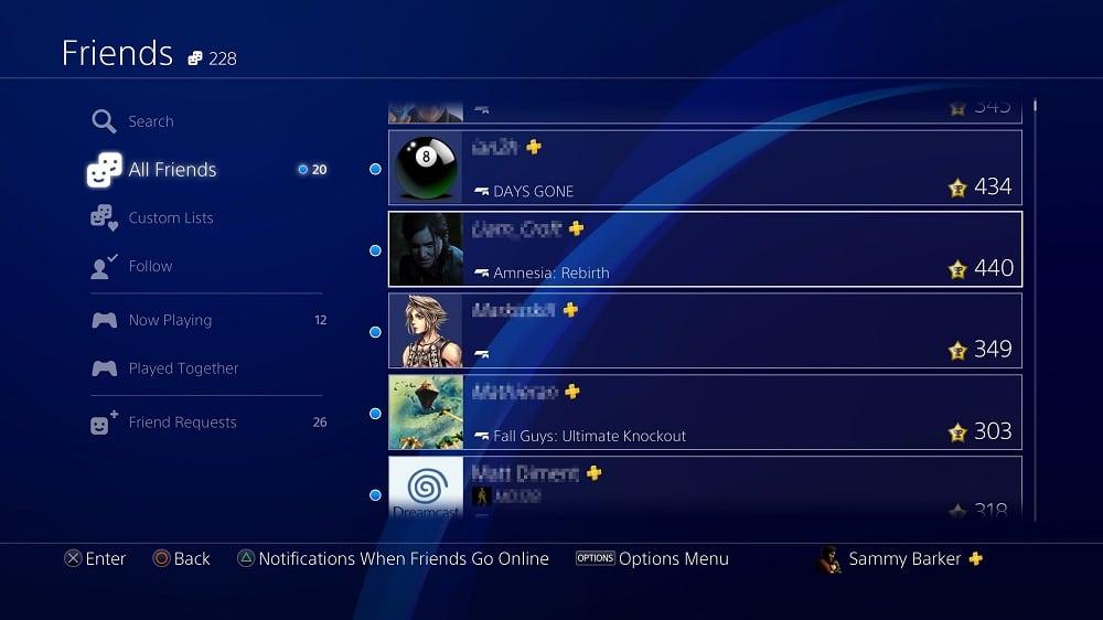 PS4 person's PSN