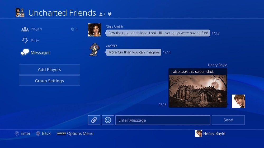 Send the link to the User ps4